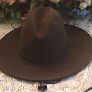 dea75748a0840 Stetson Accessories - Stetson Brown Cross Creek Cowboy Hat Size Small